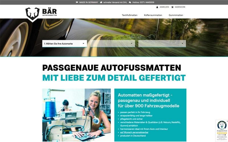baer-autofussmatten.de Screenshot