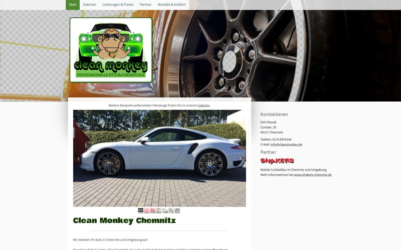 cleanmonkey.de Screenshot