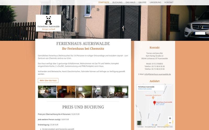ferienhaus-auerswalde.de Screenshot