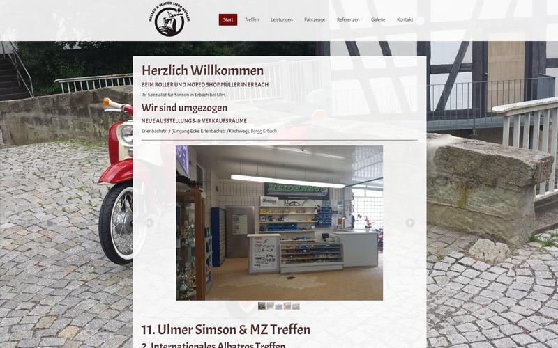 muellers-mopedschuppen.de Screenshot